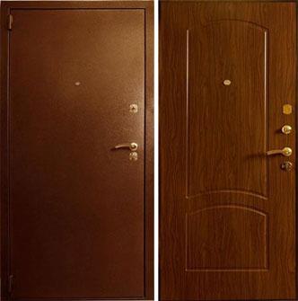 Дверь стальная Лекс 1а - орех тисненый