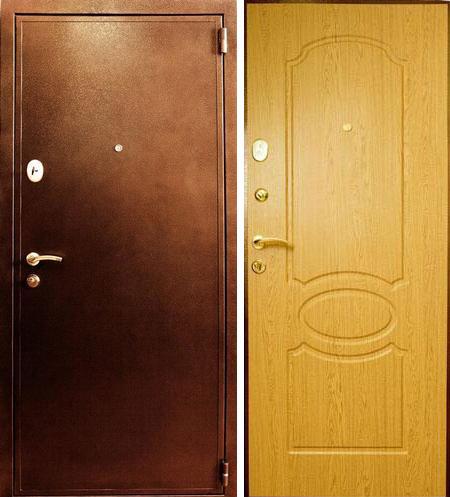Металлическая стальная входная дверь Лекс 2 дуб