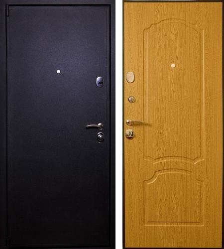 Дверь стальная Лекс 3 черный крокодил - дуб