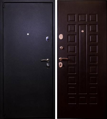 Дверь стальная Лекс 3 черный крокодил - венге