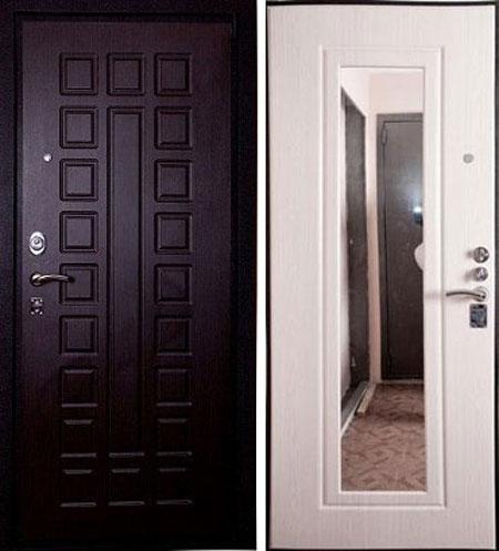 Дверь стальная Лекс 4а с зеркалом