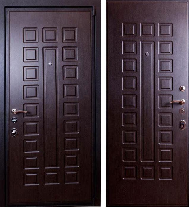 Дверь стальная Лекс 4а венге - венге