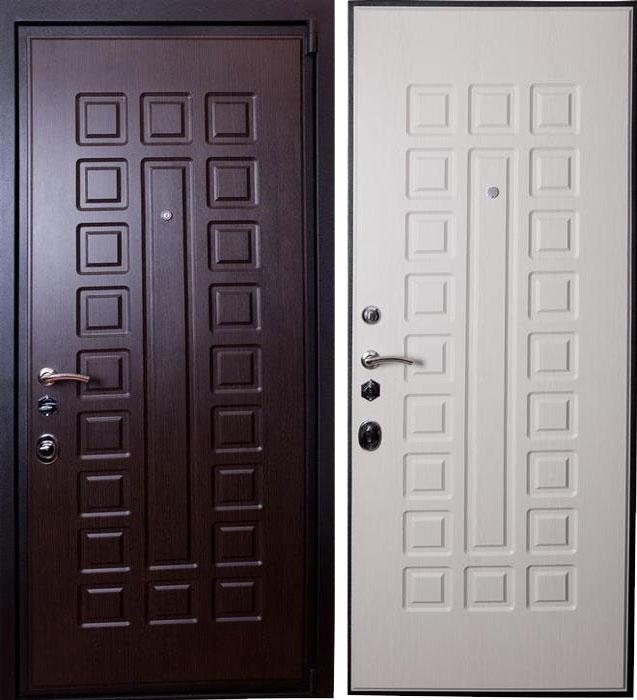 Дверь стальная Лекс 4а венге - беленый дуб