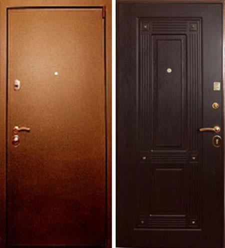 Металлическая стальная дверь Лекс 4 венге с ковкой
