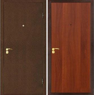 Металлическая стальная дверь Лекс эконом итальянский орех