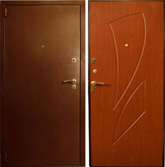 Дверь стальная Лекс 1 - вишня
