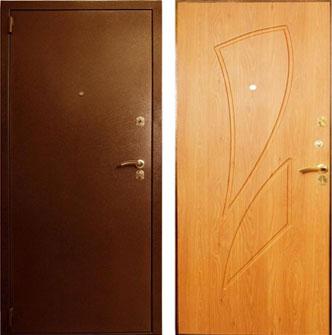 Дверь стальная Лекс 1 - клен медовый