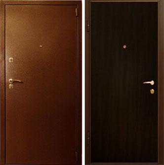 Дверь стальная Лекс модель эконом - венге