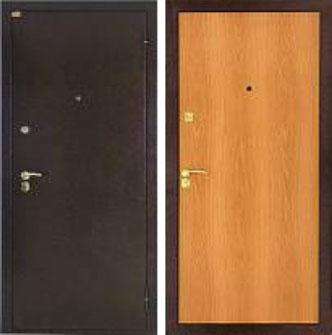 Дверь стальная Лекс эконом - миланский орех